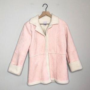 American Girl Pink Faux Sheep Skin Coat